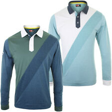 Callaway Golf 2014 Mens Rugby Inspired Long Sleeve Polo Shirt