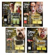 Deluxe Horror Halloween Makeup Scary FX Zipper Kit Accessory