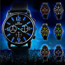 Mens Watches Quartz Stainless Steel Sports Wrist Watch GT