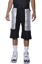 Akademiks Faux Leather Quilted Gold Plated AKA Lounge Baller Urban Sweat Shorts