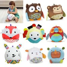 Farm Animal Ball shaped Stuffed Soft Toy Doll Rattle Gift Baby Kids 1-5 age new