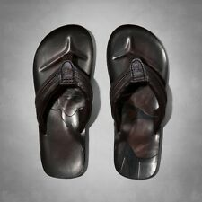 NWT Abercrombie & Fitch Mens Genuine Leather Moose Sandals Treads Flip Flops