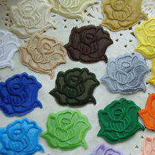 New 10/20PCS Rose Applique Flowers Patch Iron on  Sew DIY Craft Clothes Decor