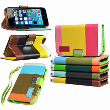 Fashion Flip PU Leather Wallet Card Holder Stand Case Cover For Various Phones