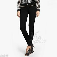 MICHAEL KORS Zipper Detail Skinny Black Pants Leggings - Sizes 4 & 6  - NWT!