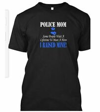 POLICE MOM OR DAD T-SHIRT