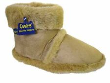 New Mens Cooler Brand Snugg Microsuede Boot Slipper Thick Fluffy Collar & Lining