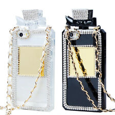 Diamond Crystal Perfume Bottle Shaped Chain Handbag Case Cover For Iphone 5S 5
