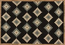 Black Diamond Kilim Rugs by Park Designs, Pick, 3 Sizes, Handcrafted, Wool Blend