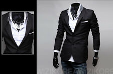 New Stylish Men's Casual Slim Fit Two Button Suit Blazer Coat Jackets 3 color