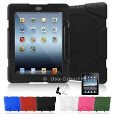 Kid WaterProof ShockProof Armor Military Hard Case Cover For Apple iPad 2 3 4 .A