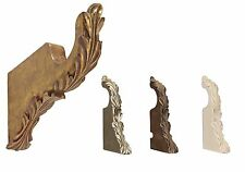 "Menagerie 2"" Drapery Hardware Pair Of Scroll Brackets  6"" Return 4 Finishes"