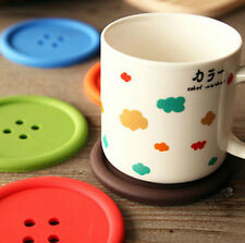 New Cool Design silicone cup Mug Glass Beverage Holder Pad Coffee Button Coaster