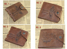 FT88 Leather Bifold Wallet Purse Pockets Card Clutch Cente Money Clip Cad Holder