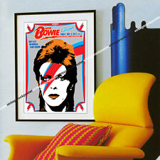 074- DAVID BOWIE -8 november 1974 Buffalo, Usa - artistic concert poster
