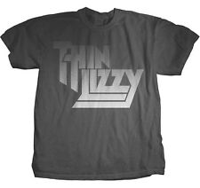 THIN LIZZY - Faded Letter Logo - T SHIRT S-M-L-XL Brand New - Official T Shirt