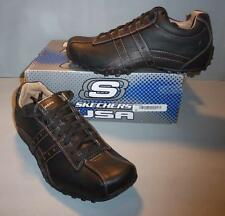 Skechers Men's Black Citywalk Midnight Leather Casual Shoes SIZES! NIB