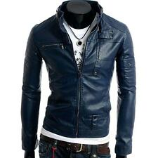 New Men's Jacket Coat Outerwear PU Leather Short Style Tight Sexy Hot Fashion
