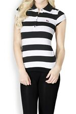 NEW STRIPED SHORT SLEEVE RUGBY POLO TOP W/ EMBROIDERED HORSE LOGO ~ S M L #8828