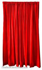 "Custom Size Home Movie Theater/Stage Drapes Red Velvet 108"" H Curtain Long Panel"