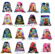 Disney Licensed Kids Sling Bag Drawstring Backpack Goody Candy Bag Party Favors