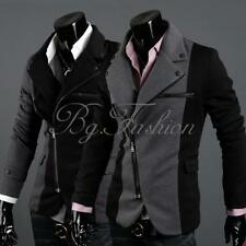 HOT Mens Slim Fit Stylish Casual One Button Suit Coat Jacket Blazers Zipper