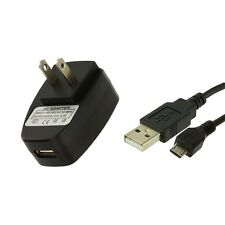 2.1Amp Strong USB Wall Home Travel Charger Black+Data Cable for Cell Phones