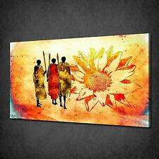 ABSTRACT AFRICAN FLOWER MODERN CANVAS PRINT PICTURE MANY SIZES FREE UK P&P AF060