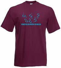 Forever Blowing Bubbles West Ham Football Club FC Soccer T-Shirt - All Sizes