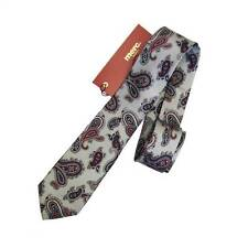 MERC TIE WELLING MENS ASH GREY PAISLEY PATTERN IN ONE SIZE