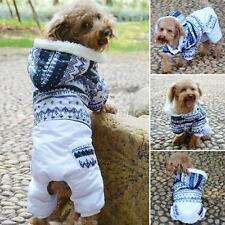 Snowflower Pet Dogs Cotton Jacket Jumpsuit Warm Hoodies Coat Clothes XS-XXL ARH