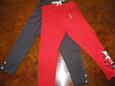 Bnwt NEXT 2 Pack Girls Leggings Red Embellish Applique Cat & Black 18m-2 yrs