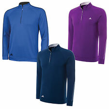 2014 ADIDAS MENS 3-STRIPES 1/4 ZIP LAYERING TOP - NEW GOLF TRAINING CLIMALITE