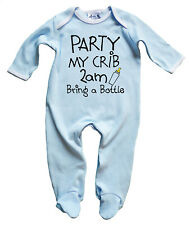 Dirty Fingers Funny Baby Sleep suit Onesie Party My Crib 2am Bring a Bottle