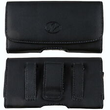 Horizontal Leather Sideways Case Holster FOR ALL CELL PHONES ALL CARRIERS NEW!!