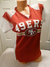 "4920-2 WOMENS Ladies SAN FRANCISCO 49ers ""DRAFT ME"" Football Jersey RED"