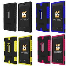Nokia Lumia 920 N920 Dual Tone Silicone Soft Hard Shield Case Cover + Film