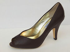 STEVE MADDEN SUZZY BROWN LEATHER PUMPS  sz 6,8,9,10 NEW 100% AUTHENTIC