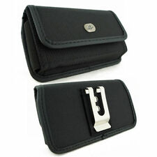 Horizontal Rugged Canvas Belt Clip Case Pouch fr HTC Cell Phones