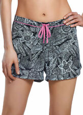 Jockey Womens Flower Print Boxer Short Sleepwear Shorts cotton blends