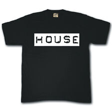 HOUSE Club dance music vinyl rave DJ cool funny festival T-shirt