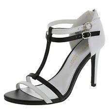 Christian Siriano Women's Shoes KASH STRIPPY Sandal BLACK/WHITE