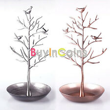 New Hot Women Tree Stand Jewelry for Earrings Necklace Ring Holder Display Gift
