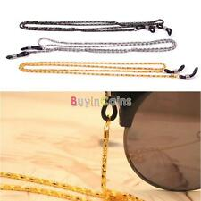 1/2/5X Reading Glasses Strap Eyeglasses Neck Cord Strap Metal Chain Holder 60cm