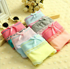 new Wholesale lots 6 PCS Women's underwear Mix color Bow Modal Cotton Panties