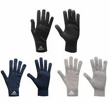 Adidas Knitted Gloves Black Navy Grey Winter Fashion Sports Excercise