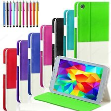 For Samsung Galaxy Tab 3 8 Tablet Folio Leather Hybrid Case Cover Stand SM-T310