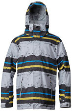 Quiksilver Mission Insulated Snowboard Jacket Sirius Stripe Men Mens
