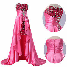 Focus on YOUR Satisfaction Formal Party Gown Prom Wedding High-Low Evening Dress