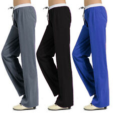NEW Womens Soft Comfort Cotton Yoga Sweat Lounge Gym Sports Athletic Pants WES